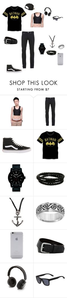 """""""Forever wishing I had a chest binder"""" by ptv-dawn ❤ liked on Polyvore featuring Paul Smith, Vans, Bioworld, Nixon, Porsche Design, Dolce&Gabbana, Cherish Always, Native Union, HUGO and B&O Play"""