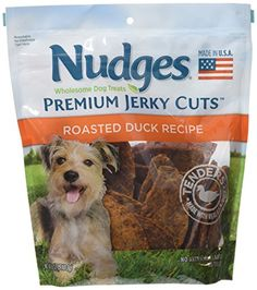 Nudges Premium Jerky Cuts Dog Treats, Roasted Duck, 18 Ounce *** Visit the image link more details.