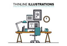Thinline Illustrations Collection on Behance