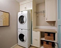 Small laundry shelving for small laundry room