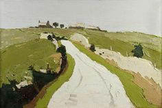 "Kyffin Williams ""Road to the Farm""  1970–1990 Oil on canvas, 50.5 x 76.2 cm"