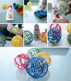 pelotas de lana