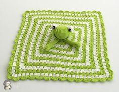 MADRES HIPERACTIVAS: manualidades y DIY con y para niños: Manta de Apego Ranita a Crochet, Patrón Gratis