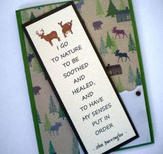 NATURE'S HEALING   Bookmark Card with nature quote by TheMusesCall, $4.50