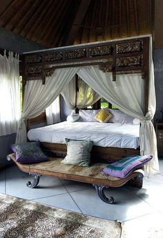 I Always Wanted A Canopy Bed This Has Gorgeous Wood Details