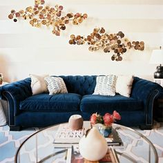 This is my dream couch color/fabric.... super rich deep teal velvet. Love!