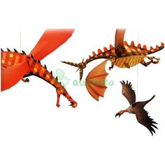 DECORACION DRAGONES COLGANTES