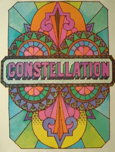 Style 1960's psychedelic design
