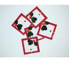 A Set of 5 Tags for your Christmas Gifts and ideal for Scrapbooking Embellishments Decorate with Holy leaves and Glossy Accent Berries The size of the tags are 2 x 2 Quality Card Stock Note: Fee Delivery for Polokwane SA Selling On Pinterest, Scrapbook Embellishments, Christmas Tag, Xmas Gifts, Gift Tags, Card Stock, Greeting Cards, Scrapbooking, Etsy Shop