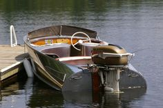 My 1958 Feathercraft Vagabond Vintage Alumium Boat with 1957 Johnson Golden Javelin