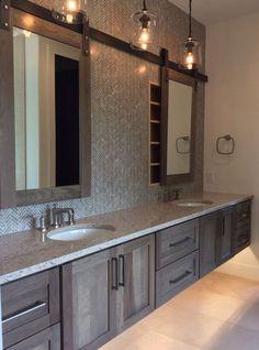 Modern Farmhouse, Rustic Modern, Classic, light and airy bathroom design a few ideas. Bathroom makeover some ideas and bathroom renovation a few ideas. Bathroom Renos, Bathroom Renovations, Home Remodeling, Bathroom Ideas, Wood Bathroom, Bath Ideas, Bathroom Organization, Brown Bathroom, Bathroom Makeovers