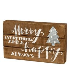 Loving this 'Merry Everything' Block Sign on #zulily! #zulilyfinds