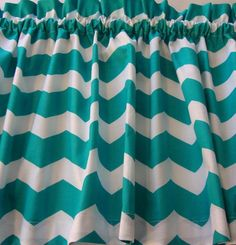 Chevron Turquoise and White Valance Curtain Popular Design Custom @belisem216 with the Surf Chevron