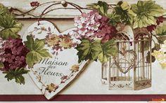 Borte Bordüre Rasch Textil Blooming Garden Satin 001170 Blumen braun rot Tapeten Rasch Textil Blooming Garden