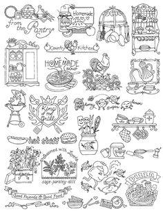 Aunt Martha's #400 Kitchen Designs