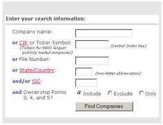 U.S. Securities and Exchange Commission website. Search for financial reports filed by publicly traded company.