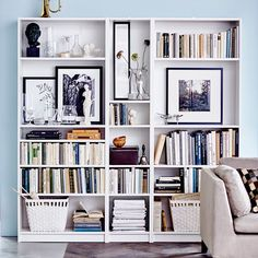 11 Home Libraries That Will Inspire You to Hit the Books is part of home Library Ikea - It's time to get literary Cool Bookshelves, Ikea Billy Bookcase, Bookshelf Ideas, Library Shelves, Bookcases, Bookshelf Inspiration, House Shelves, Bookshelf Plans, Book Shelves
