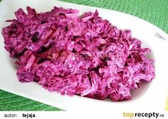 Salát z červené řepy, cibule a jogurtu recept - TopRecepty.cz Cabbage, Food And Drink, Vegetables, Cooking, Health, Recipes, Per Diem, Fine Dining, Beetroot