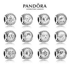 Genuine Pandora Zodiac Charm Silver Star Sign Bead    eBay