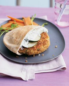 Greek Style Quinoa Burgers from Whole living - Crap, this looks good.
