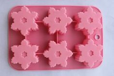6 Cavity Snowflake Silicone Cake & Chocolate mold Baking: Kitchen & Dining: Amazon.com