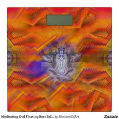 Meditating Owl Floating Rest Balance Art Bathroom Scale