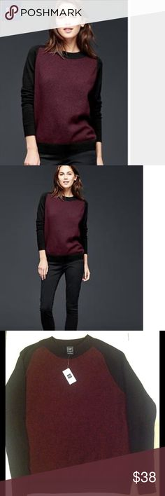 🆕GAP MARLED FRONT PULLOVER SWEATER.(Sz XS). GAP MARLED FRONT PULLOVER SWEATER Is a soft knit , contrast MARLED knit at front body.Long raglan sleeves .Crew neckline . RIBBED TRIM throughout . Straight silhouette with a relaxed easy fit. Hits below the hips. COLOR IS BLACK WITH MARRON.Fabric is 100 % Cotton. BRAND NEW WITH TAG. GAP Sweaters Crew & Scoop Necks