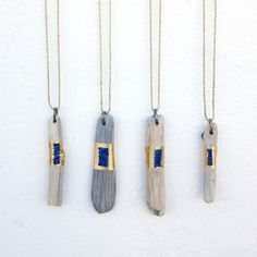 Driftwood Amulets with Lapis