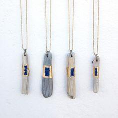 Driftwood Amulets with Lapis