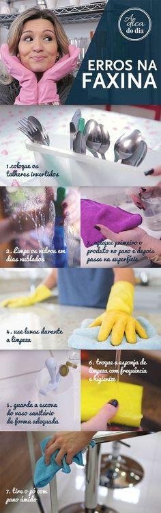 DICAS PARA NÃO ERRAR NUNCA MAIS NA FAXINA PT2: Mais dicas para potencializar a limpeza e otimizar o seu tempo! Flávia Ferrari divide mais erros comuns que cometemos ao fazer a faxina. Dicas para tirar o pó; Dicas para fazer a higienização da esponja da cozinha; Dica para guardara escova do vaso sanitário; Dicas parafazer faxina usando luvas; Dicas para economizar com os produtos de limpeza; Dicas para limpar as janelas; Dica para lavar talheres. | #ADICADODIA