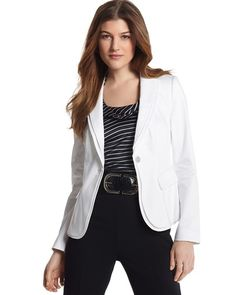 WHBM spring jacket and silk top