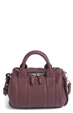 Alexander+Wang+'Rockie+-+Nickel'+Leather+Crossbody+Satchel+available+at+#Nordstrom