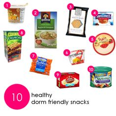 10 Healthy Dorm Friendly Snacks!