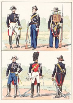 French; Gendarmerie, 1855 from Hector Large's Le Costume Militaire Vol III
