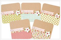 Simple holiday thank you cards by Sheri Reguly, Scrapbook & Cards Today