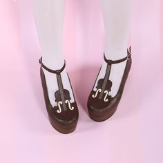 Japanese Kawaii Violin Strap High-Heeled Shoes