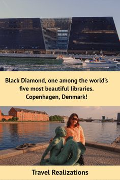 One among the world's five most beautiful libraries is the national library of Denmark and Copenhagen university - Black Diamond. Travel Tips, Travel Destinations, Travel Plan, Paradise Travel, Beautiful Library, Photo Essay, Copenhagen Denmark, Copenhagen Travel, Black Diamond