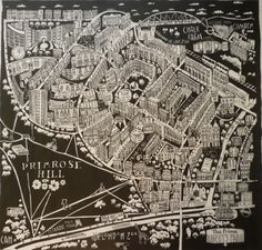 Caroline Harper. Hand-drawn maps | Primrose Hill, London