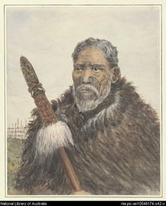 Chief Hori Ngatai of the Ngaiterangi tribe [picture] - Part of Robley, Horatio Gordon, Maoris, New Zealand, Polynesian People, Polynesian Culture, Maori People, Portrait Art, Portraits, Maori Art, South Pacific, Body Painting, New Zealand