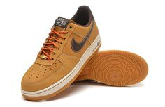 Men's Nike Air Force 1 Low Brown Shoes