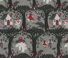 The Black Forest fabric by ceanirminger on Spoonflower - custom fabric