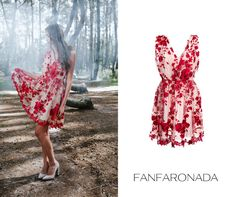 embroidery dress red lace dress floral lace dress by Fanfaronada