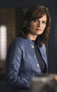 """Stana Katic, from an earlier season of """"Castle.""""  I love this hairstyle"""