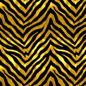 Black and Gold Zebra by willowlanetextiles
