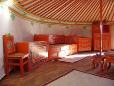mongolian yurt furniture - Google Search