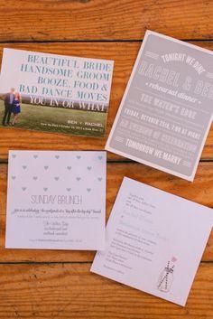 Invites | Rachel & Ben's Lace Factory Connecticut Wedding | Sweet Little Photographs