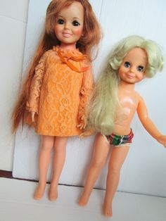 Vintage Pair of Dolls Crissy and Velvet Ideal by suburbantreasure, $39.00
