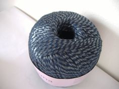 Luna Ribbon Yarn in Deep Navy w Shimmery Threads by Krystala