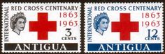 Antigua 1963 Red Cross Centenary Fine Mint SG 147-148 Scott 134-135 Other Antigua Stamps HERE