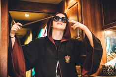Chrissy Costanza as a wizard